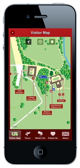 Attingham Park visitor map screenshot